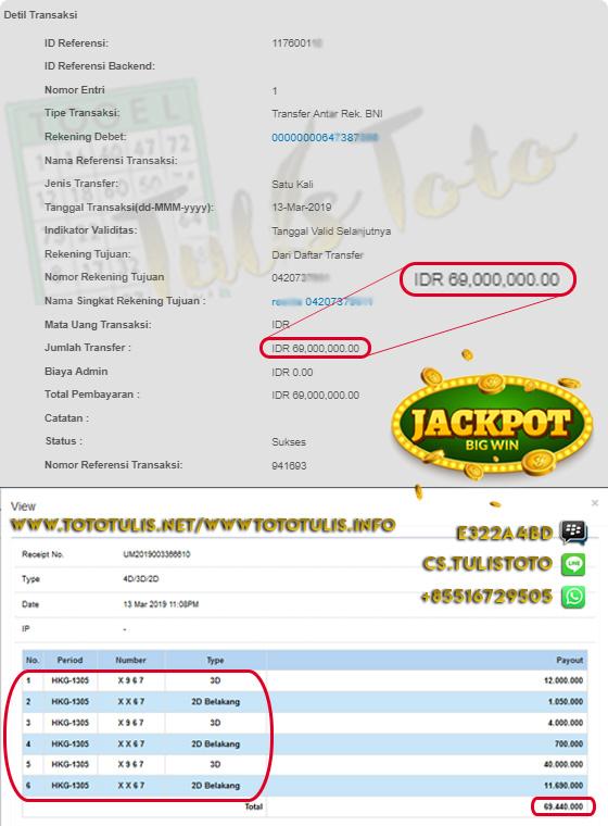 JACKPOT TOGEL 3D & 2D HONGKONG JP 100% LANGSUNG DI BAYARKAN !!