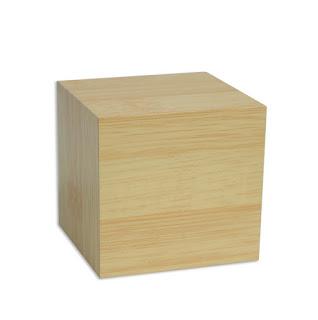 sveglia orologio cubo legno
