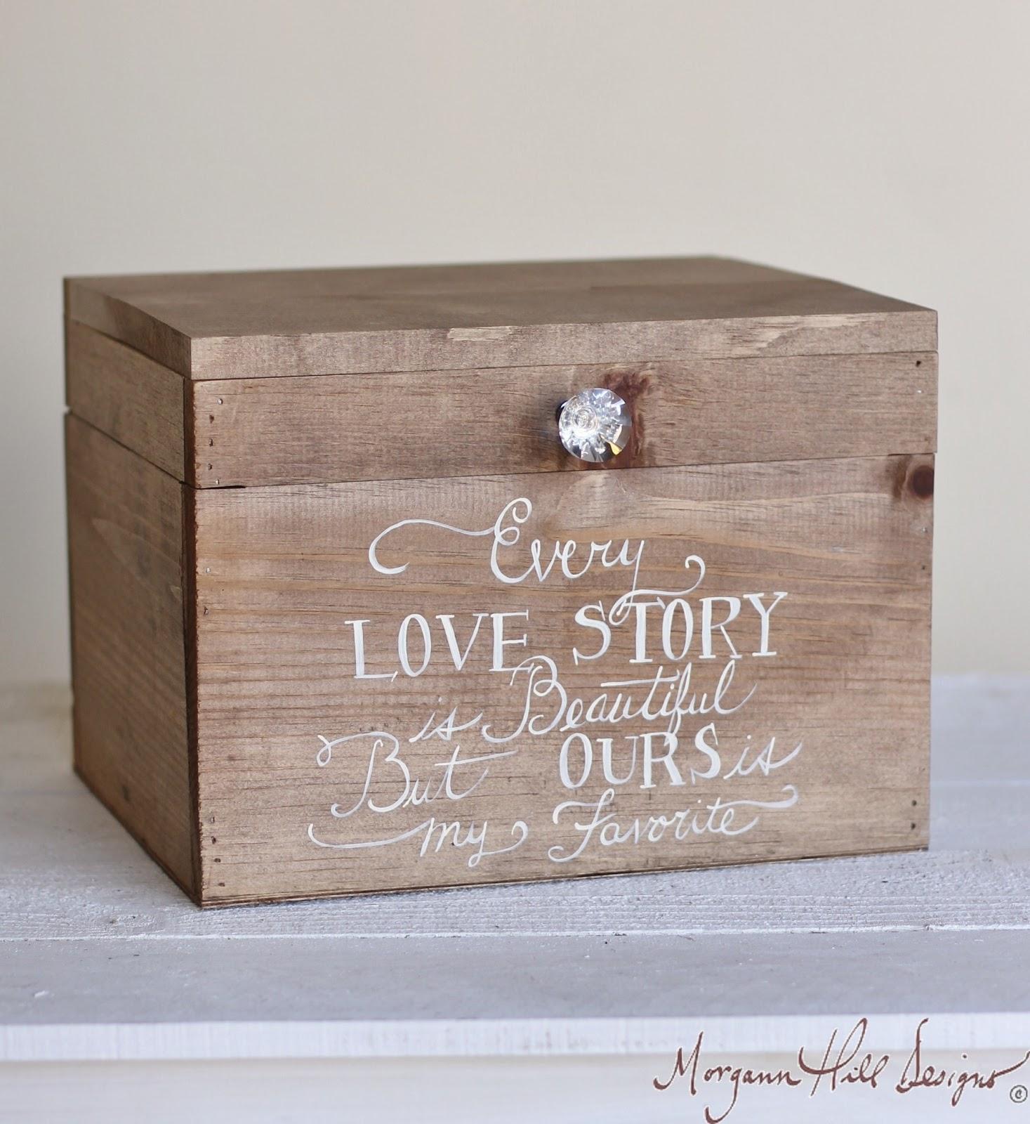 Morgann Hill Designs: Wedding Card Box Rustic County Barn