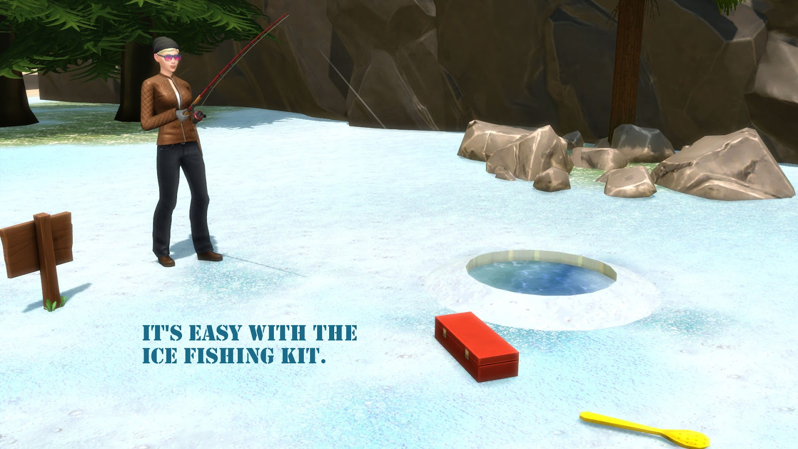 The simscake mod let 39 s go ice fishing for Go ice fish