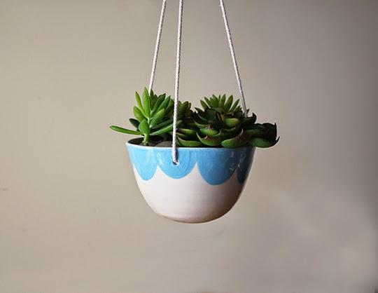 buy ceramic hanging plant bowl