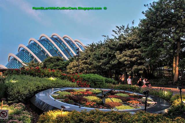 Flower Dome and Floral Clock, Gardens by the Bay, Singapore