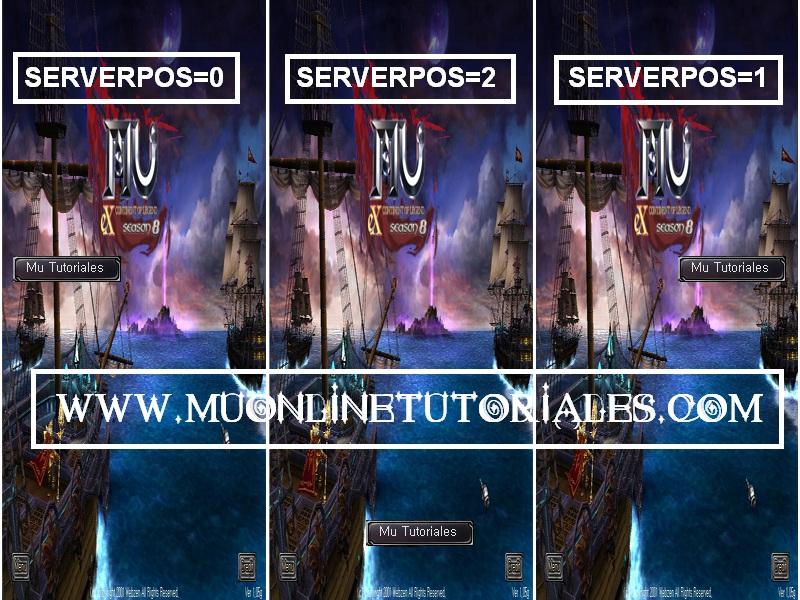 Posicion del serverlist en la intefaz del cliente