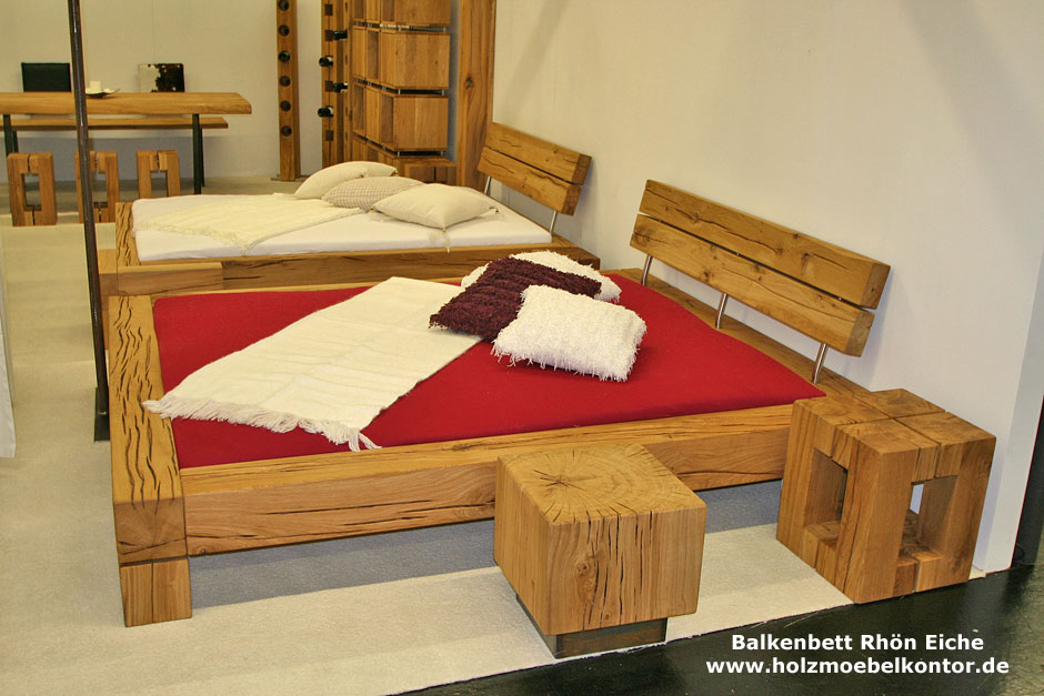 wohnkantine wohnideen vom holzm belkontor balkenbett rh n eiche im angebot. Black Bedroom Furniture Sets. Home Design Ideas