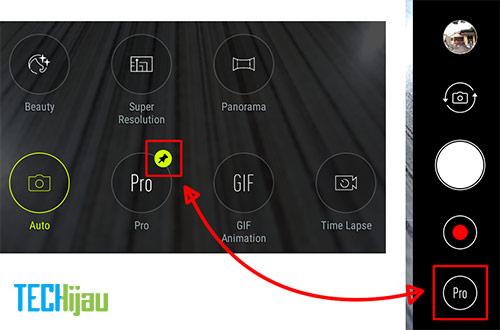 Memilih mode shortcut kamera