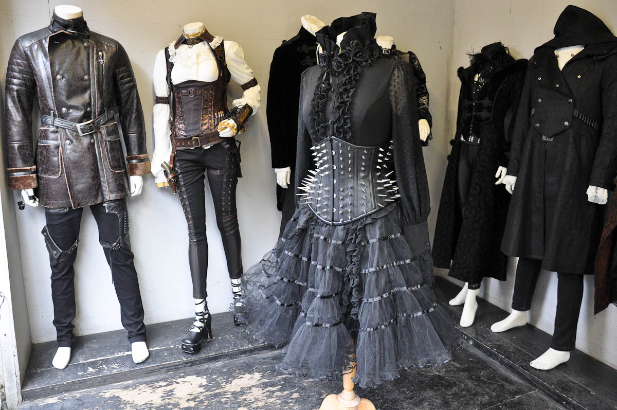 Fashion display, Stables Market, Camden Town, London, England