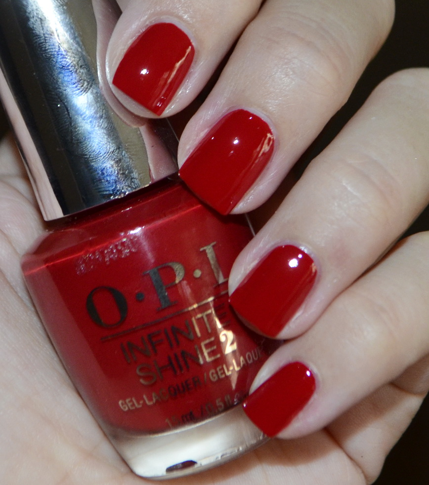 New OPI Infinite shine Iconic shades - Big Apple Red, I\'m not really ...