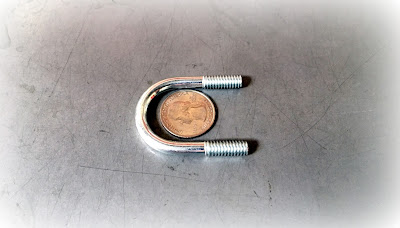 Custom Small U Bolts - 1/4-20 Round U Bolts In Steel Zinc With Rolled Thread