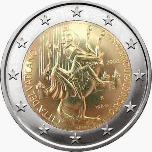2 euro Vatican City 2008, Year of St. Paul