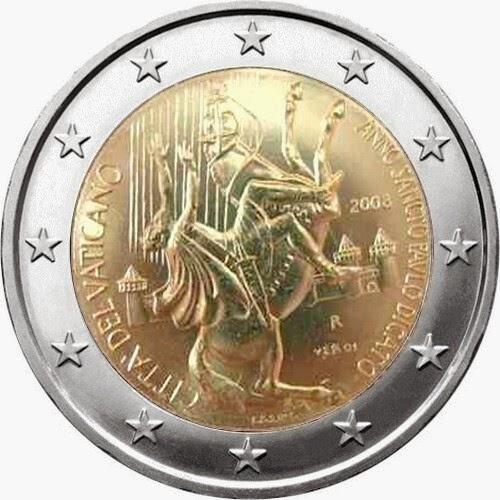 2 euro Vatican City 2008, Year of St. Paul
