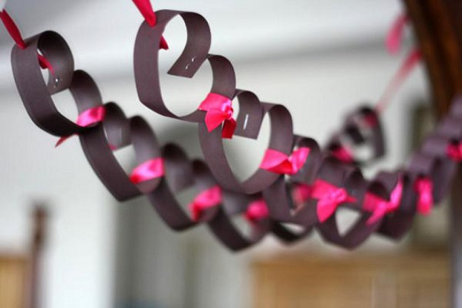 valentine's day decorations diy - heart party decorations, Paper heart garland decor