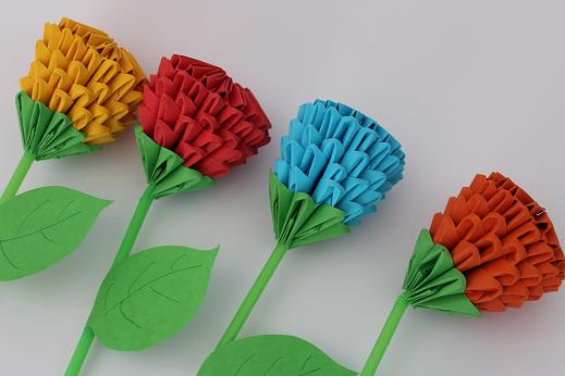 diy 3d origami blume ars vera e diy blog f r kreative selbermacher. Black Bedroom Furniture Sets. Home Design Ideas