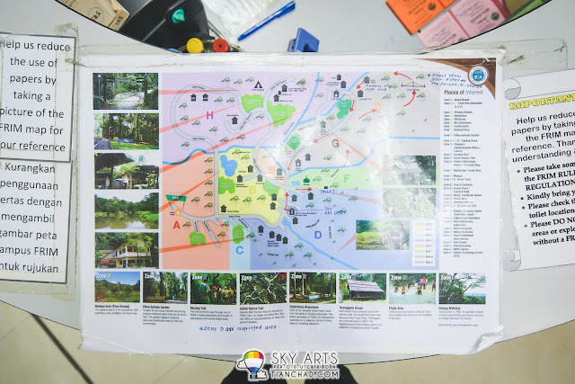 Take a picture of the FRIM Map to reduce use of papers *thumbs up*