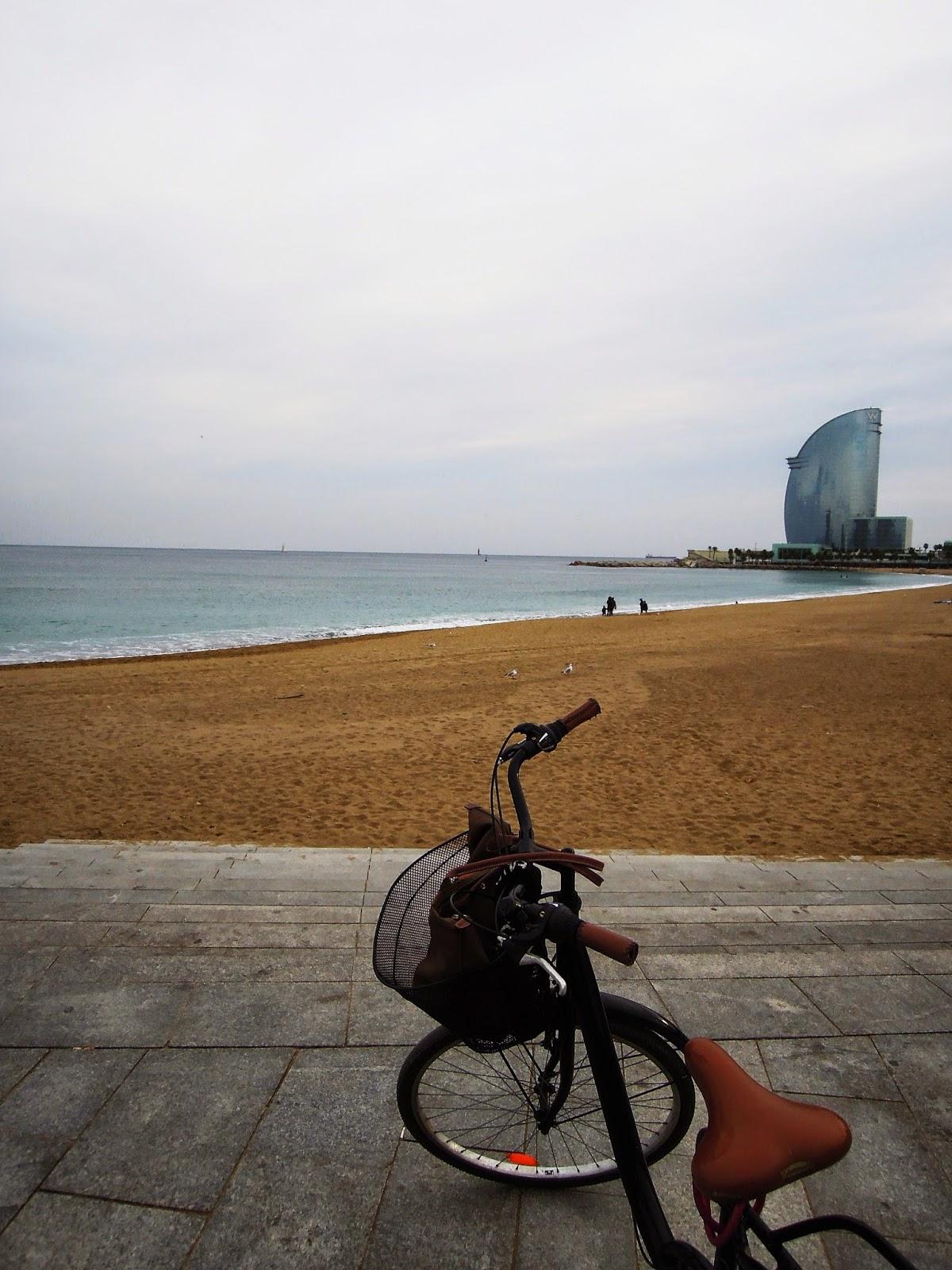 Con la biciletta a Barceloneta