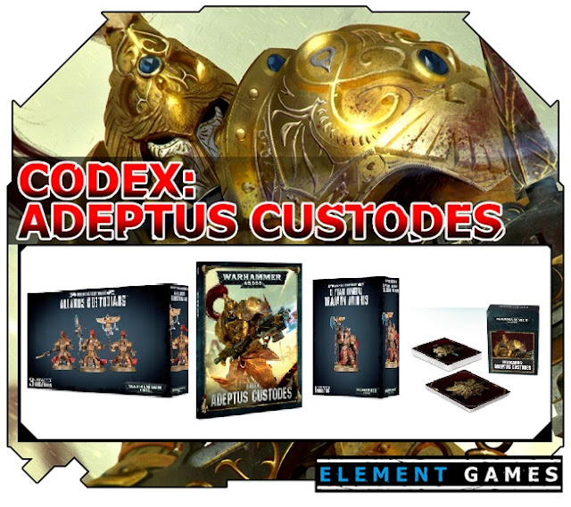 Element Games: New Warhammer 40K Adeptus Custodes Miniatures Pre-Order