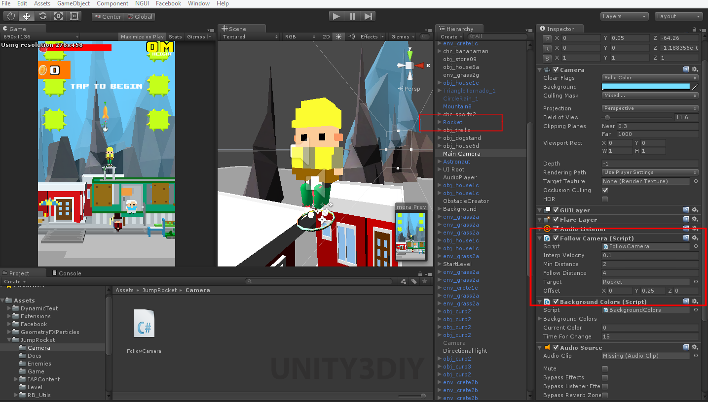 Unity 2d Camera Follow Script | Unity 3d Tutorials