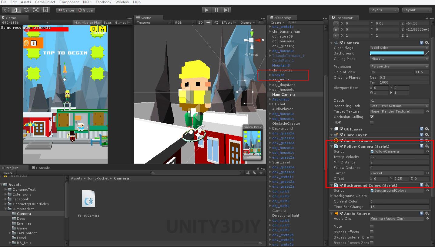 Unity 2d Camera Follow Script Unity 3d Tutorials