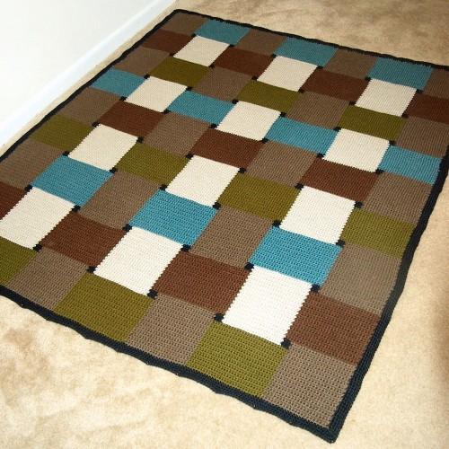 Checkmate Afghan - Free Pattern
