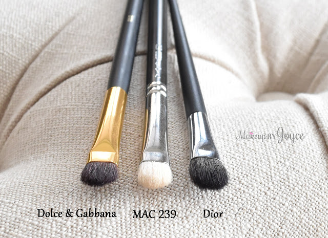Dolce & Gabbana Beauty Eyeshading Brush Review MAC 239 Dupe