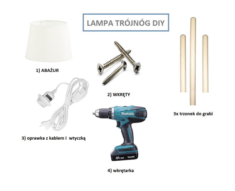 jak zrobić lampę trójnóg