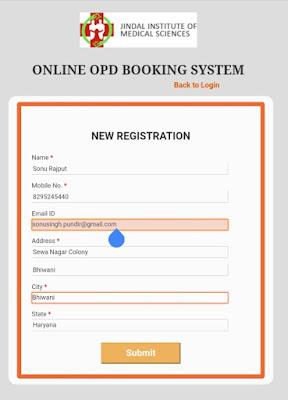 Aarogya Jingal Registration