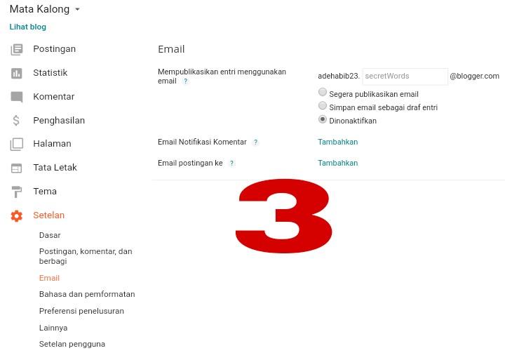 Cara Setting Blog Yang Benar Di Platform Blogger