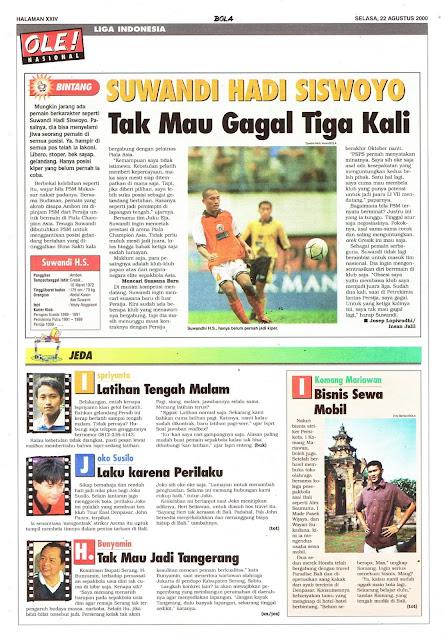 LIGA INDONESIA PROFIL SUWANDI HADI SISWOYO