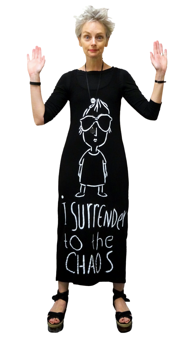 Bag and a Beret, Mel farks her tank maxi dress