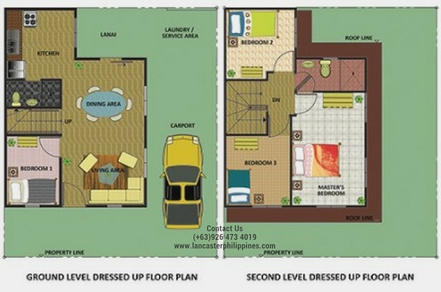 Floor Plan of Haven - Lancaster New City Cavite | House and Lot for Sale Imus-General Trias Cavite