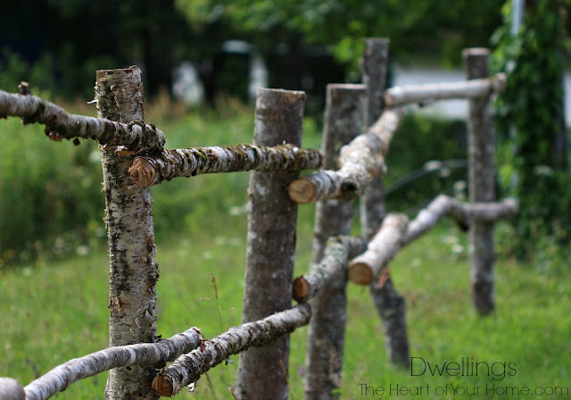 hand hewn fence