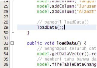 Kelas Informatika - Menambahkan Metode Load Data
