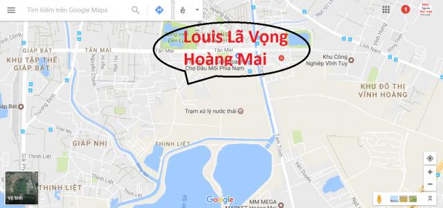 Vị trí dự án Louis City Tân Mai, Hoàng Mai