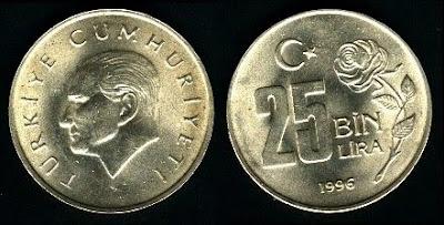 Turkey km1041 25 Bin Lira (1995-2000)