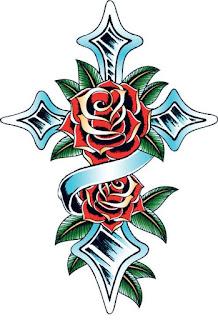 стильное тату розы