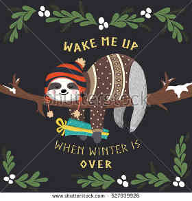 Acredito que o inverno aumenta a preguiça. Concorda?