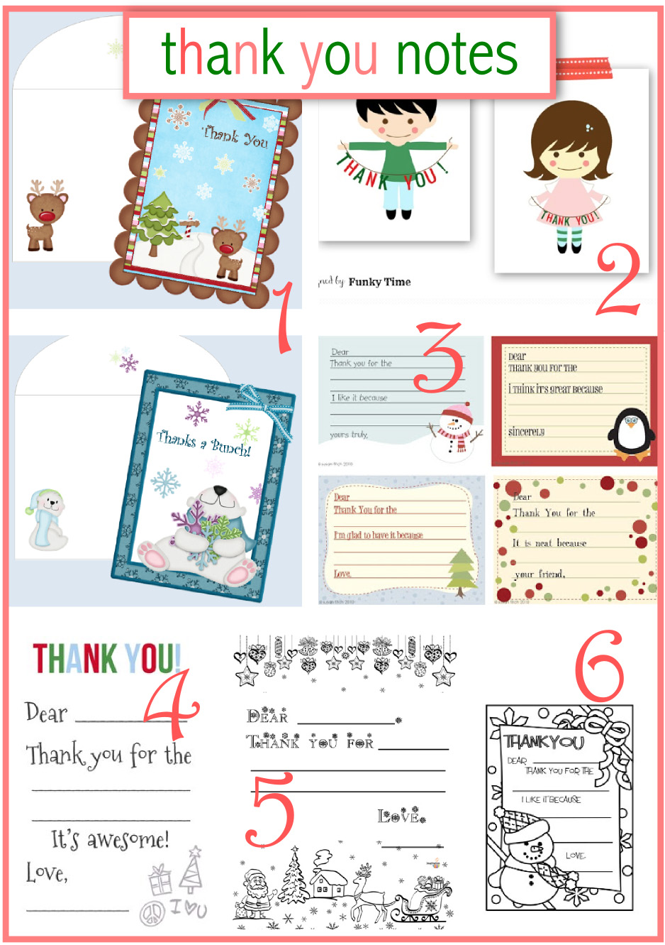 Free Printable For 12 Months Of Pre Planned Date Nights: 10 + Free Printable Christmas Thank You Notes