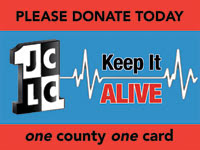 "Please Donate Today. JCLC ""Keep It Alive"""
