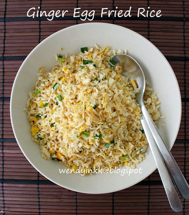 Table for 2.... or more: Ginger Egg Fried Rice - Confinement Month # 8