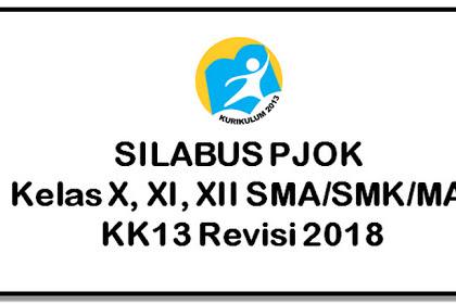 Silabus PJOK Kelas X, XI, XII SMA K13 Revisi 2018