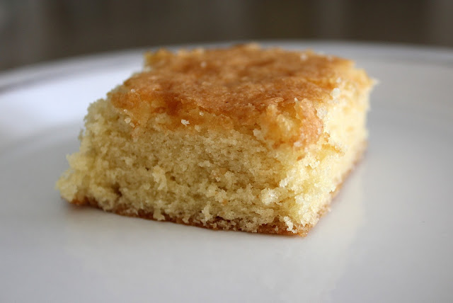 Recipe for Christina Tosi's Barely Brown Butter Cake by freshfromthe.com.