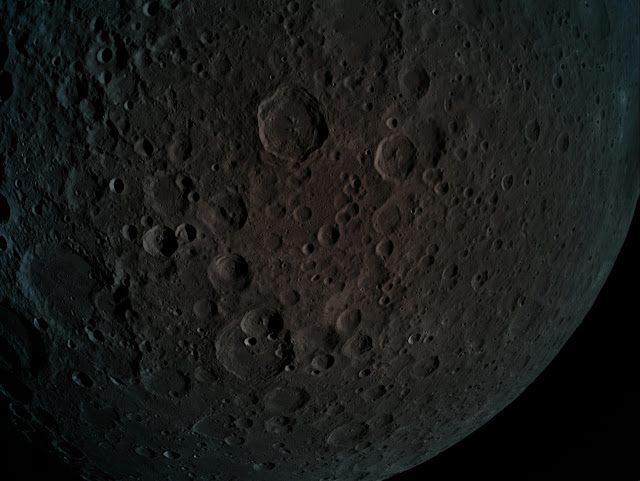 A picture taken by Beresheet - the far side of the moon during the maneuver at 470 km height
