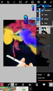 Cara Edit Foto Asap Rokok Berwarna Dengan Picsart