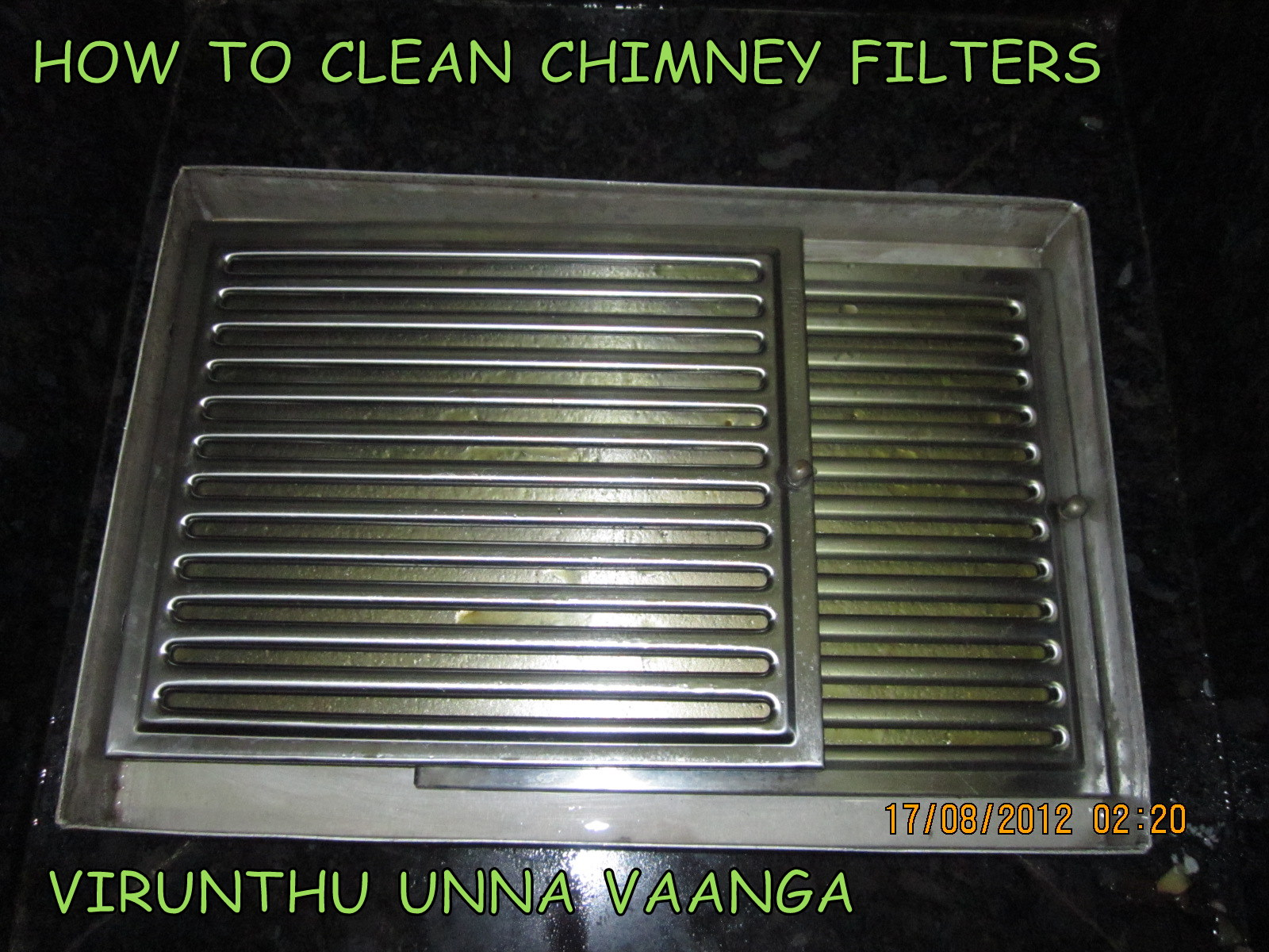 Virunthu Unna Vaanga Clean Baffle Filters Of Electric Chimney