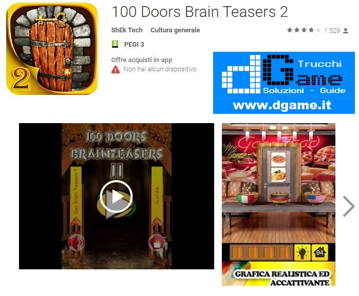 Soluzioni 100 doors brain teasers 2 livello 21 22 23 24 25 for 100 doors door 22