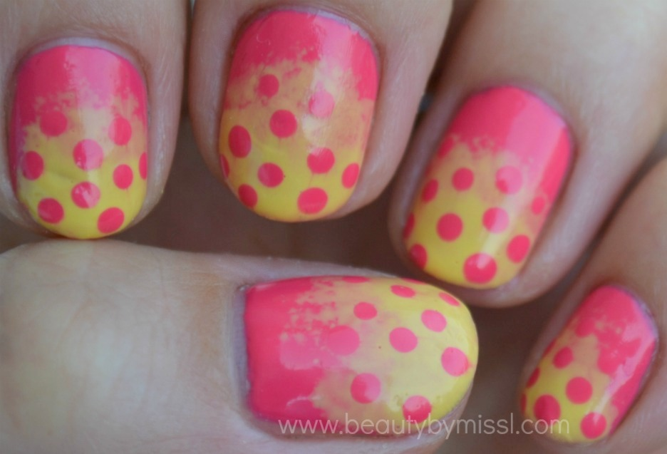pink yellow dotticure