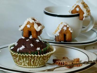 Cupcake Topper Mini-Lebkuchenhäuschen