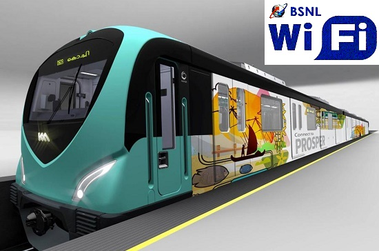 BSNL to provide FREE Wi-Fi Broadband Internet service to passengers on Kochi Metro Trains