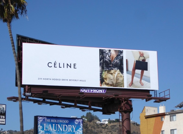 Celine FW17 fashion billboard