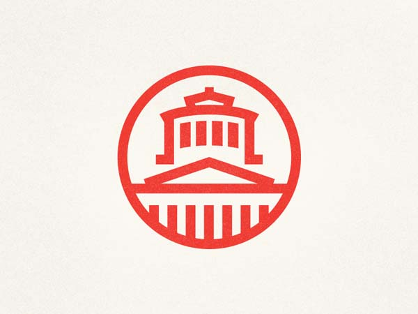 Inspirasi Desain Logo Monoline 2017 - The Statehouse Monoline Logo
