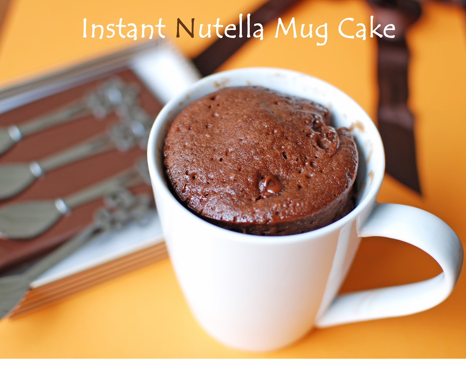 Chocolate Nutella Microwave Mug Cake